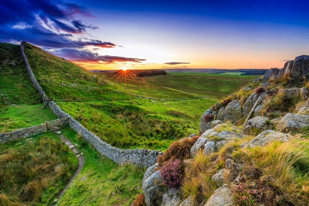 English countryside sunset