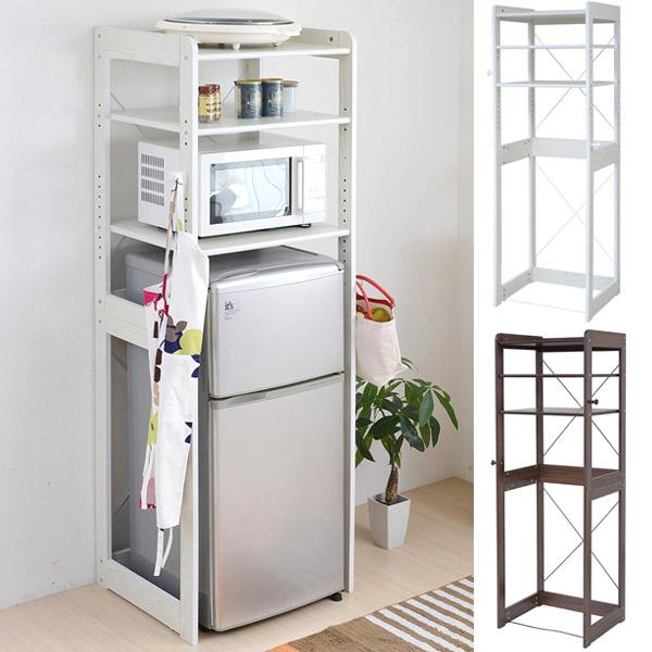 Storage rack on top of fridge