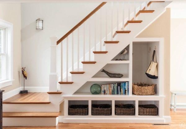 storage underneath a staircase